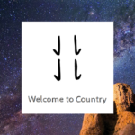 welcome to country kangaroo print logo