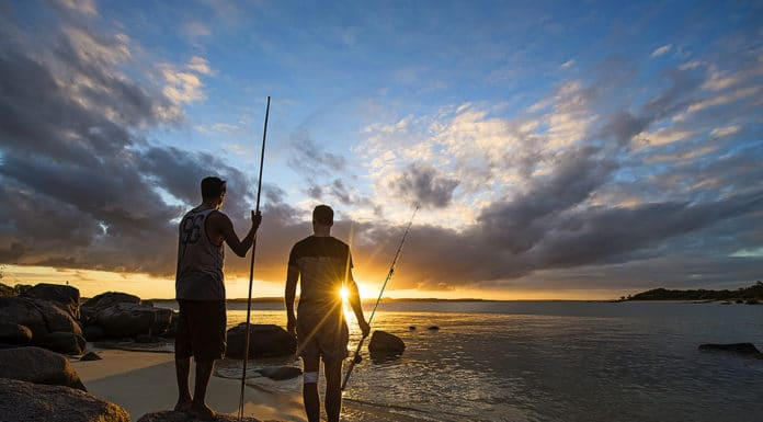 welcome to country aboriginal spear fishing