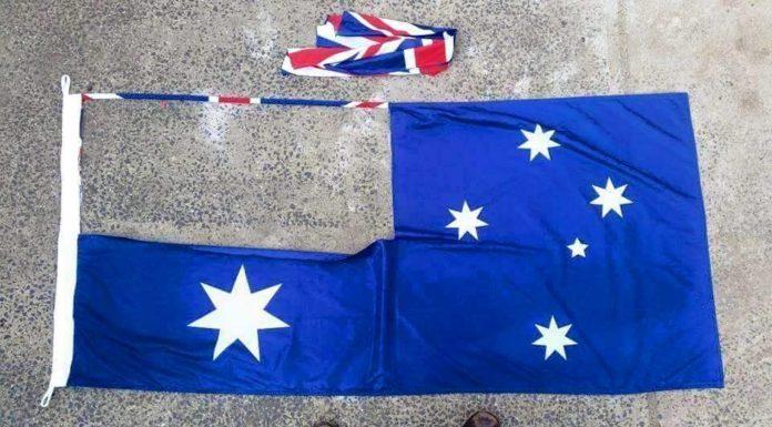 Australian flag cut out union jack aboriginal