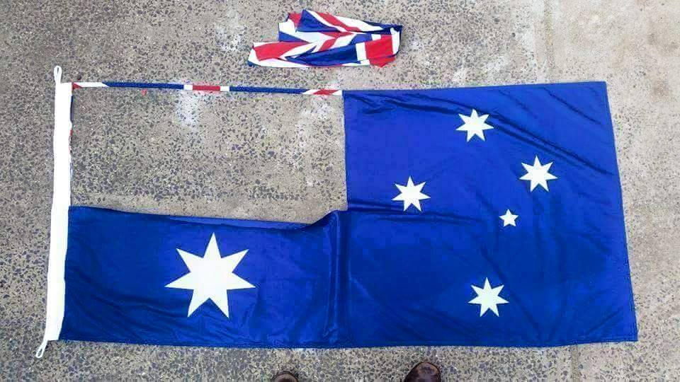 Australian flag cut out union jack aboriginal