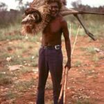 aboriginal hunter hunting emu australia