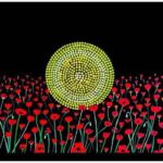 KOORI KICKS ART 2 aboriginal flag poppys poppies lest we forget