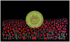 KOORI KICKS ART 2 aboriginal flag poppys poppies lest we forget
