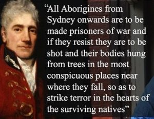 lachlan macquarie aboriginal massacre statue