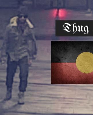 Thug Life vandal statue aboriginal sydney captain cook