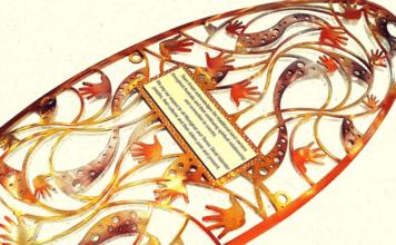 aboriginal steel art kmart plaque acknowledgemnt