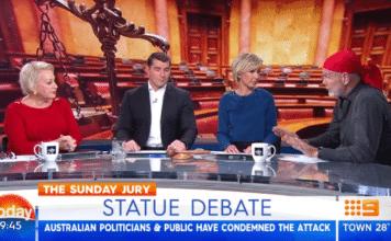 apartheid media 2017 sunrise today show indigenous aboriginal satue debate