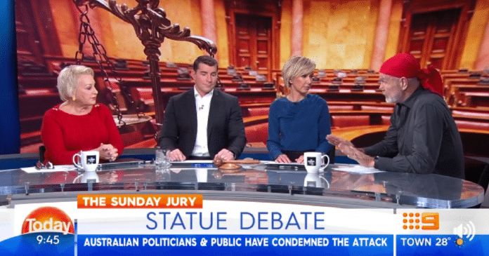 apartheid media 2017 sunrise today show indigenous aboriginal satue debate