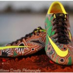 daren dunn aboriginal artist footy boots rugby league