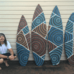 saltwater dreamtime aboriginal surfboard art