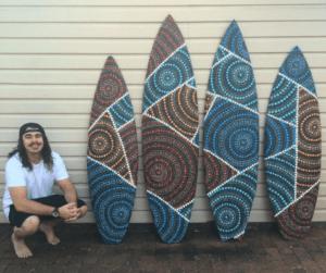 saltwater dreamtime aboriginal surfboard art