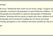 apology aboriginal child prostitution story wa today