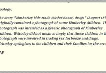 apology aboriginal child prostitution story wa today