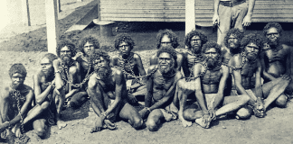aboriginals in chains australia