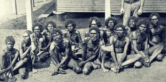 aboriginals in chains australia