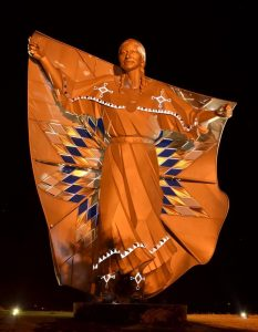 dignity statue night south dakota chamberlain indigenous