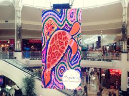 elverina johnson mainie lendlease indigenous artwork digital shopping centre display