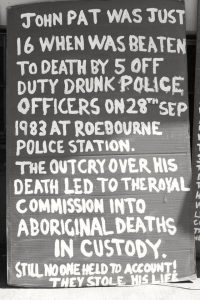 john pat roebourne royal commission aboriginal deaths in custody
