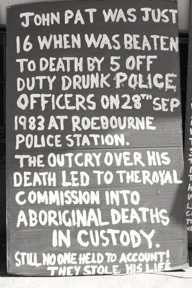 john pat roebourne royal commission aboriginal deaths in custody
