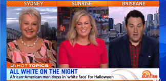 cultural appropriation not offensive sunrise australia television