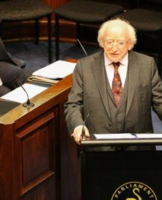 irish president aboriginal people genocide