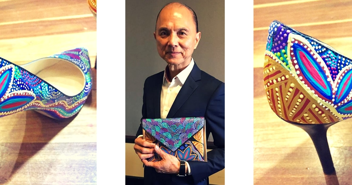 fd23e8185b86 Jimmy Choo s love affair with Aboriginal art is far from over ...