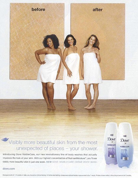 racist dove ad