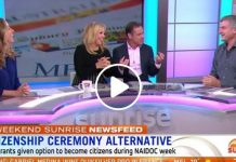 sunrise all white panel australian citizenship naidoc week