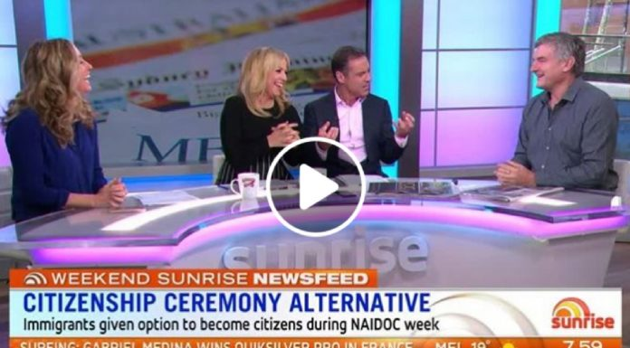 sunrise all white panel australian citizenship naidoc week