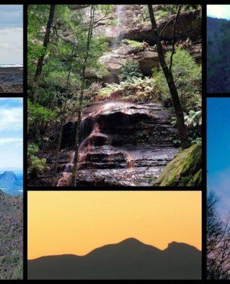 aboriginal faces cliff mountain elder australia