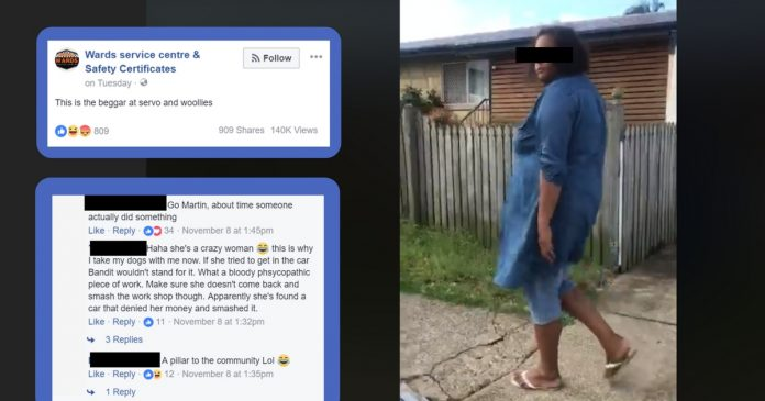 brisbane business owner shames aboriginal woman on social media