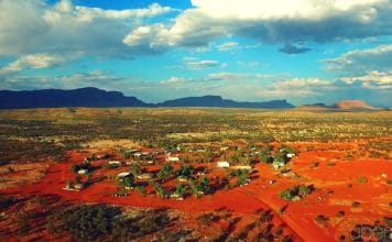 haasts bluff drone aerial video uberair remote aboriginal community