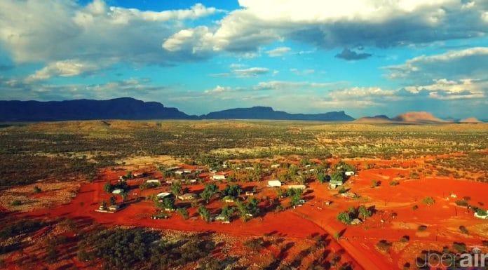 haasts bluff drone aerial video uberair remote aboriginal community