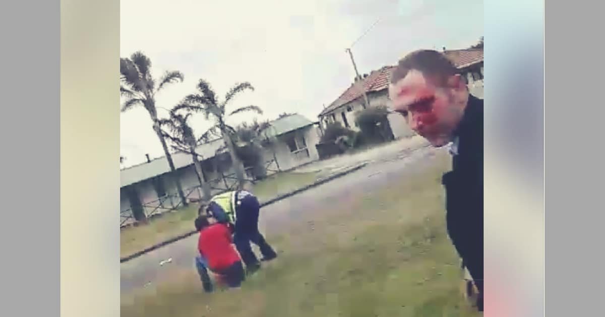 police left bloody albany western australia noise complaint axe aboriginal