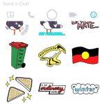snapchat aboriginal flag sticker emoji icon