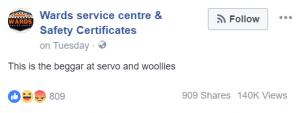 wards service centre shame post