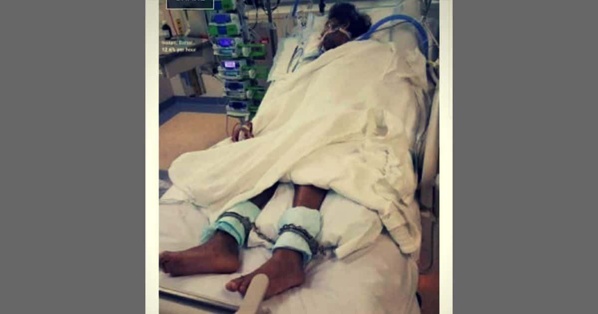 aboriginal man chained life support sydney