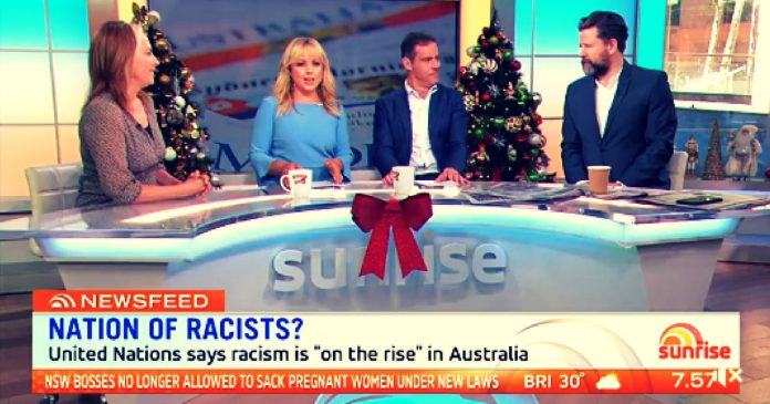 sunrise racist debate white people