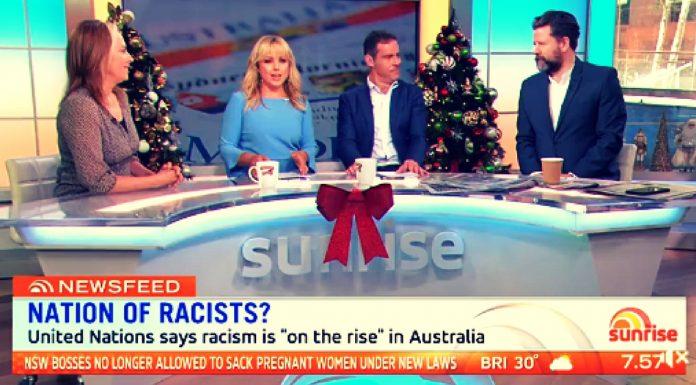 sunrise racist debate white people