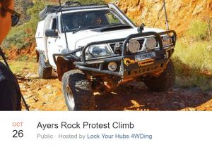 uluru protest climb 4wd