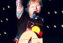 ED SHEERAN ADELAIDE ABORIGINAL FLAG T-SHIRT SHIRT