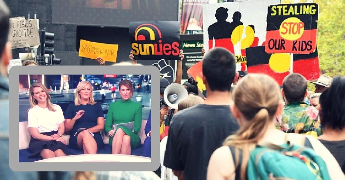 sunrise hide aboriginal protesters sydney