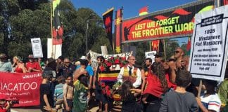 aboriginal protest anzac day frontier wars