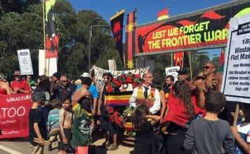 aboriginal protest anzac day frontier wars