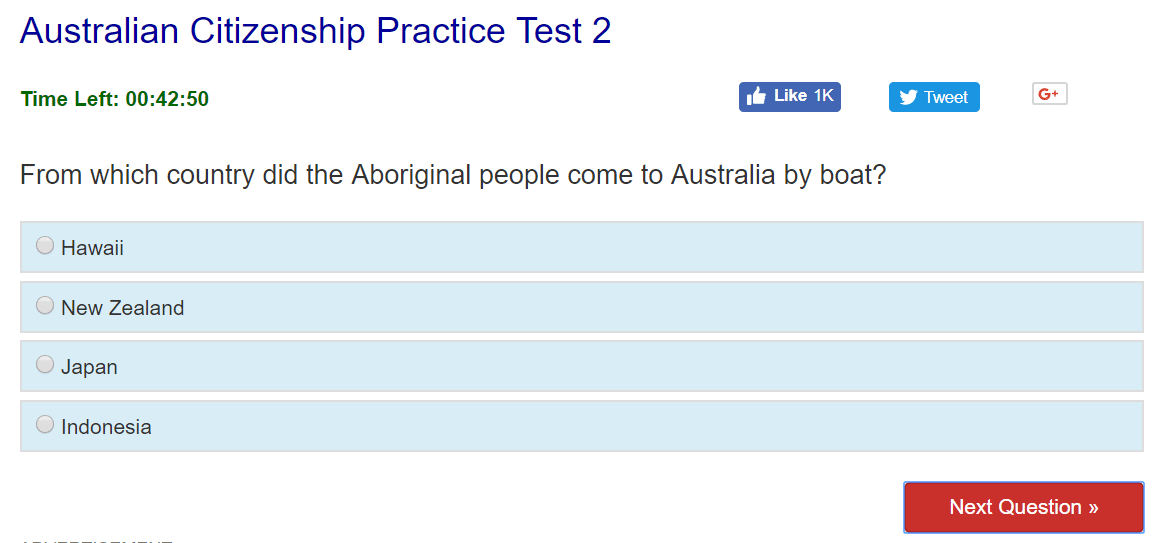 aboriginal boat people australia citizenship test