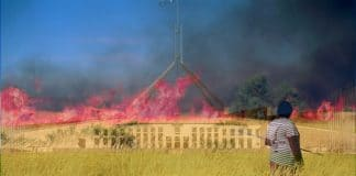 burn fire parliament house canberra fire aboriginal