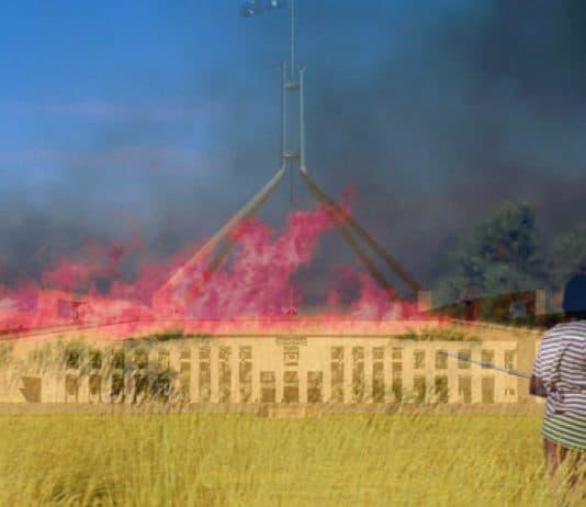 burn fire parliament house canberra fire aboriginal