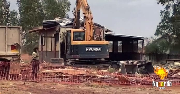 aboriginal housing demolished newman western australia Parnparjinya